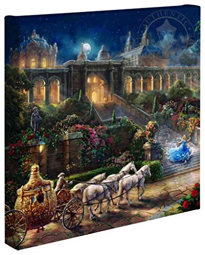 Thomas Kinkade Studios Clock Strikes Midnight 14 x 14 Gallery Wrapped Canvas