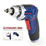 WORKPRO 3.6V Lithium-Ion Cordless Rechargeable Screwdriver with Torch Set, includes 20pcs Driver Bits, 1 Charger
