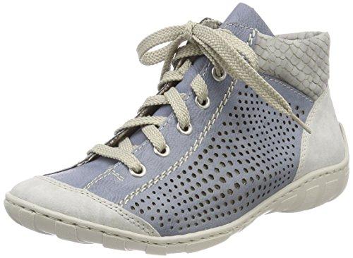 Rieker Women's M3746 Hi-Top Trainers, Blue (Fog/Adria/Cement 40), 3.5 UK