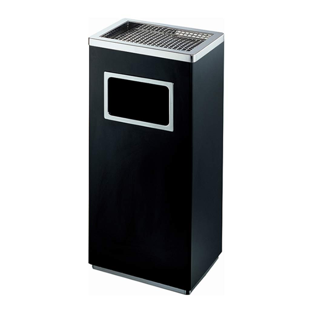 CSQ Stainless Steel Trash Can, Rectangular Trash Can, Shopping Mall Hotel Lobby Trash Can, Corridor Elevator Trash Can Indoor