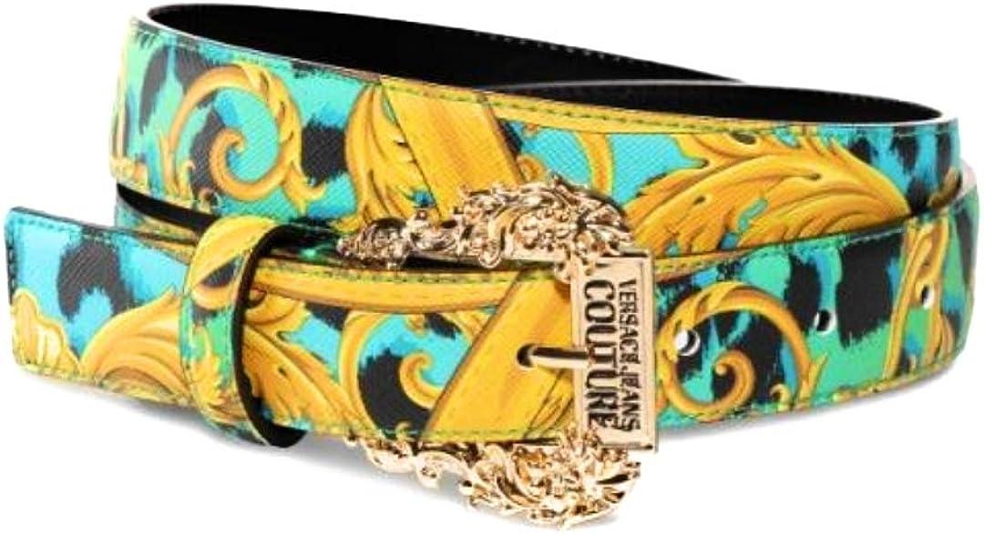 Versace CINTURA IN SAFFIANO STAMPATO BORCHIA GOLD