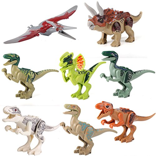 gonggamtop Dinosaur Rex Tyrannosaurus Jurassic World Park 8 Minifigures Building Toys - Safari Hunter Costume For Babies