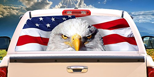 SignMission America Strong Rear Window Graphic Truck View Thru Vinyl Decal Back