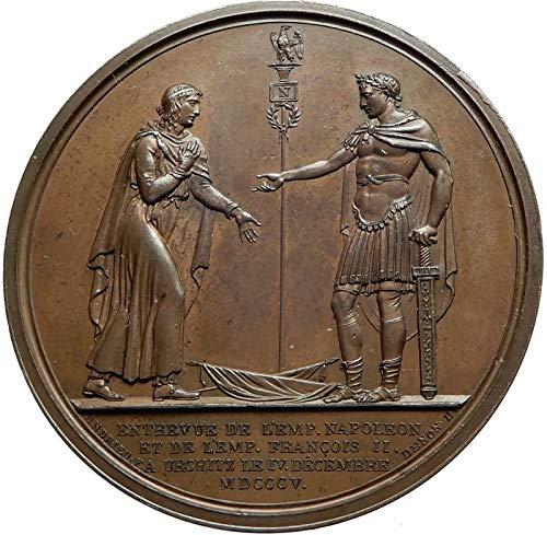 - 1805 FR 1805 FRANCE Napoleon Bonaparte & Austria Emperor coin Good