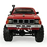 Gbell RC Cars Off-Road Military Vehicle Truck, 4WD 1:16 RC Racing High Speed Buggy Kit Toy Gifts for Kids (Red)