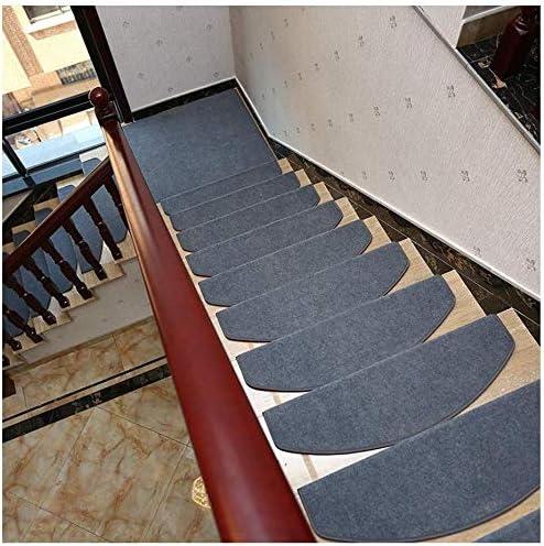 HODUXYME Alfombras para escaleras - Alfombrillas para peldaños Autoadhesivas Antideslizante Escalera peldaño pisadas tapetes, Alfombra Cubierta Set 7/15 Piezas,Gris,Setof7: Amazon.es: Hogar