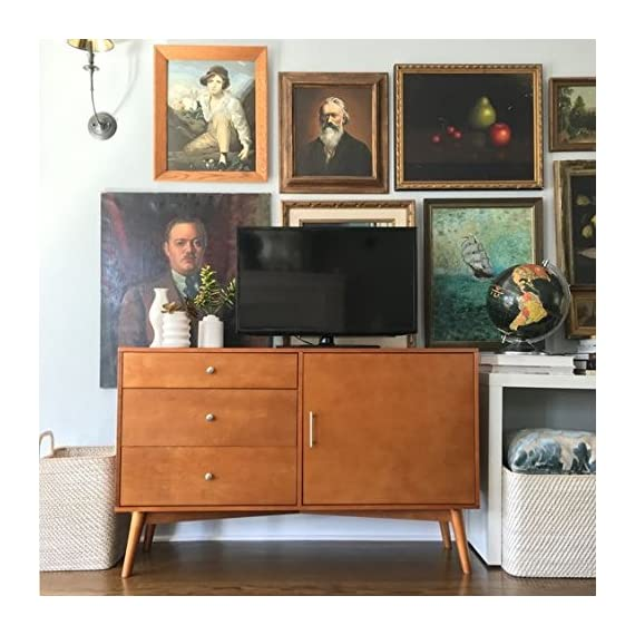 Home Accent Furnishings Gresham Television Console in Acorn - Mid-Century Modern piece High-grade MDF and laminate construction Ample storage with drawers and cabinet space - tv-stands, living-room-furniture, living-room - 51vTHkbXFlL. SS570  -