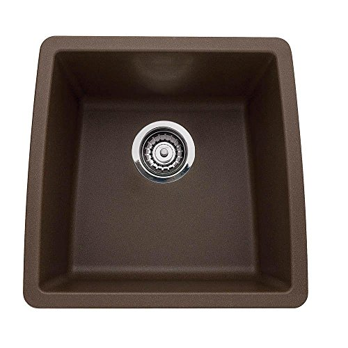 Silgranit Granite Bar Sink - Blanco 440078 Performa Silgranit II Single Bowl Sink, Café Brown