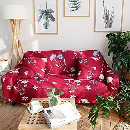 Funda de sofá estampada y lavable de Hotniu, de cuadros, elástica, 1 unidad, contrachapado, Pattern #18, 1 Seater for 90-140cm: Amazon.es: Hogar