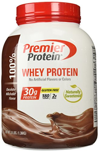 Premier Protein Whey Powder, Chocolate Milkshake, 3.0 Pound