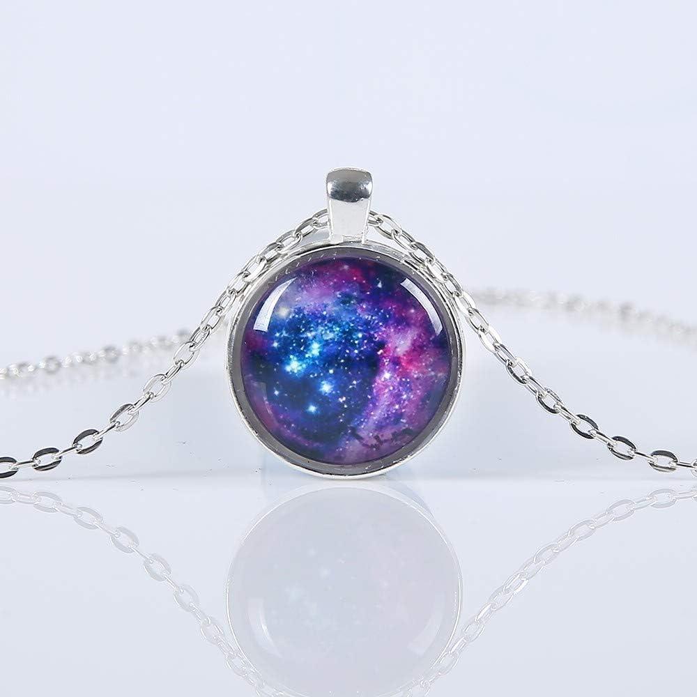 2019 New Fashion Galaxy Necklaces Nebula Space Glass Cabochon Pendants Brand Jewelry For Women Men Best