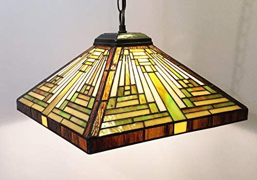 Tiffany-Style Stained Glass Mission Style Floor Lamp