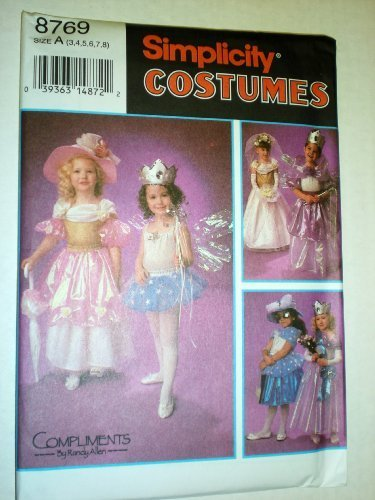 Simplicity Costume Pattern, Child, Design Your Own Dress-Up Costumes 8769 (Design Your Own Costume)