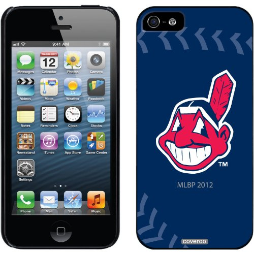 Coveroo Cleveland Indians Stitch Design Phone Case for iPhone 5s/5 - Retail Packaging - Black (Iphone 5s Cleveland Indians Case)