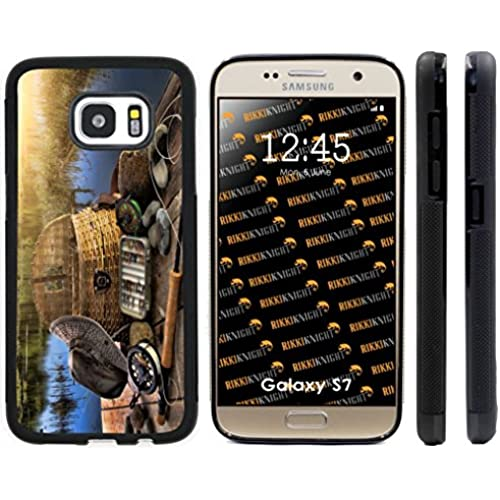 Rikki Knight Traditional Fly Fishing Design Samsung Galaxy S7 Case Cover (Black Rubber with front Bumper Protection) for Samsung Galaxy S7 Sales