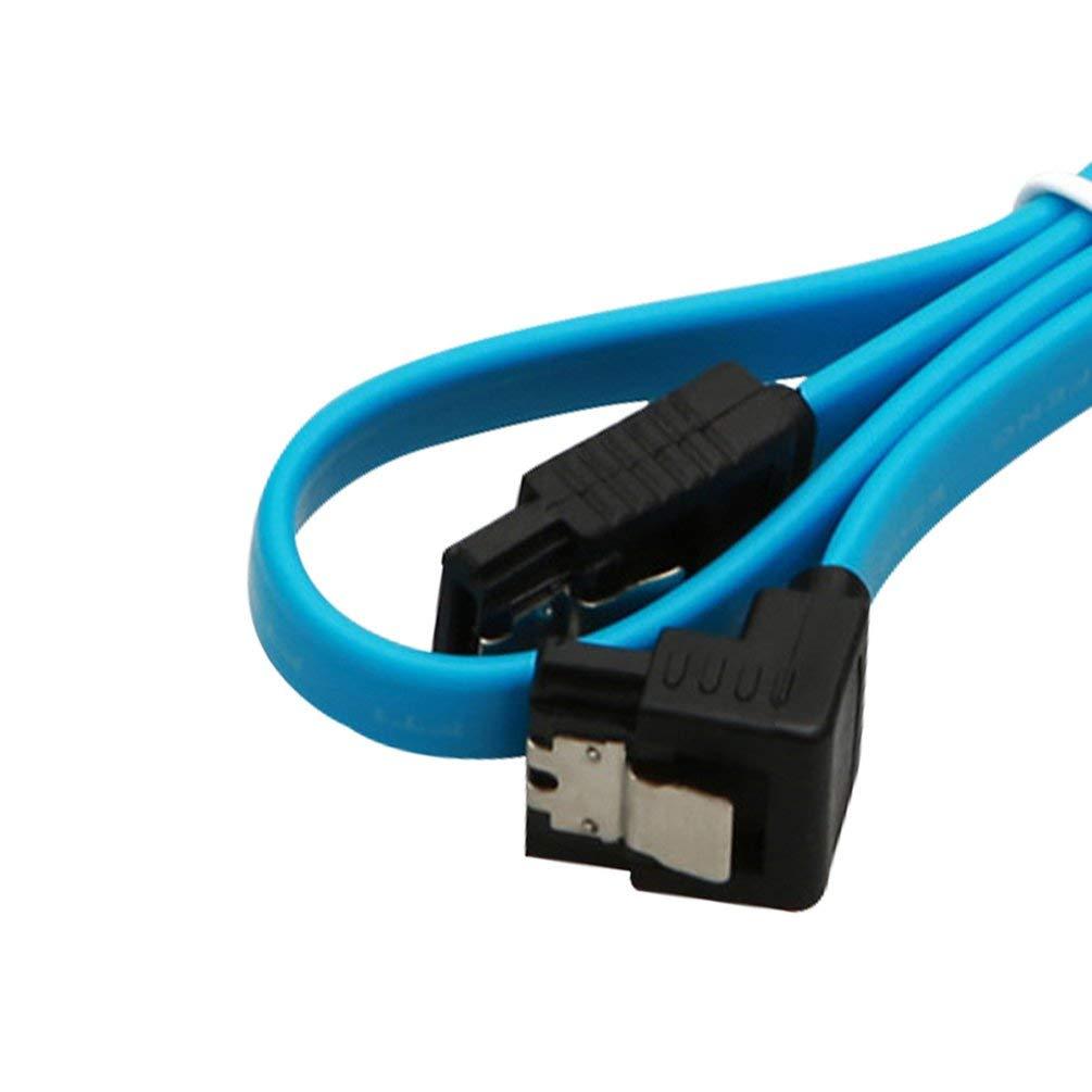 s en /ángulo Recto de 90 Grados para Disco Duro HDD Deniseonuk 5pcs 18Cable SATA 3.0 SATA3 III 6GB