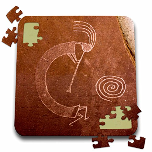Danita Delimont - Native Americans - Pictographs of the Pueblo Indians, Native American - US32 AWY0010 - Angel Wynn - 10x10 Inch Puzzle (Us32 Finish)