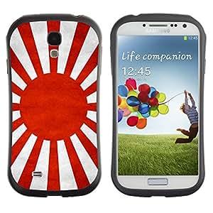 Shell-Star ( National Flag Series-Japanese War ) Hybrid Heavy Duty Shockproof iFace Fundas Cover Cubre Case para Samsung Galaxy S4 IV (I9500 / I9505 / I9505G) / SGH-i337