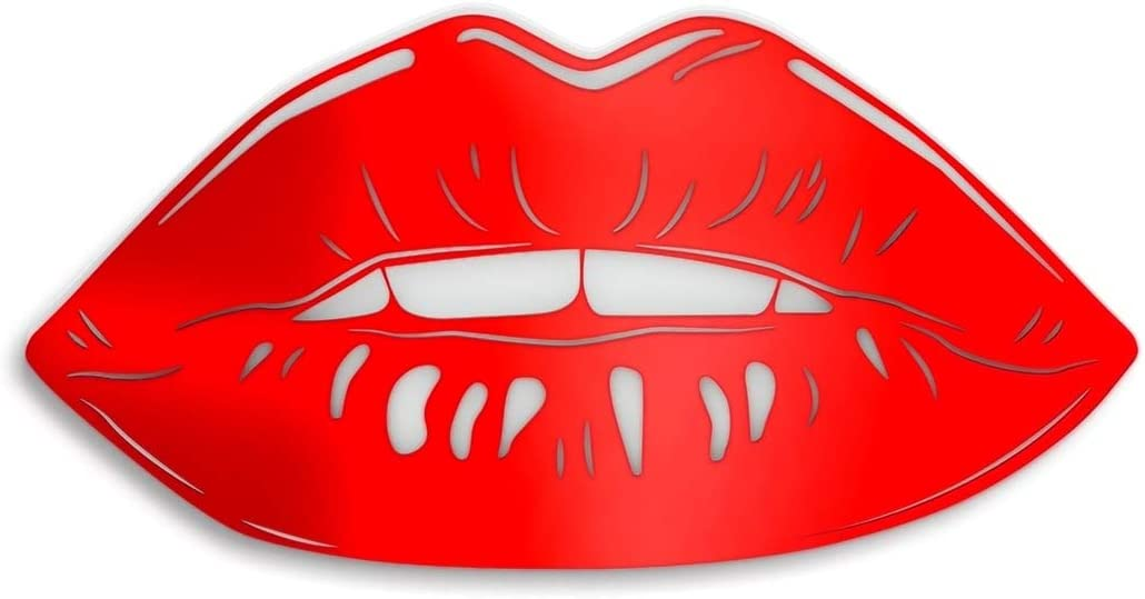 """4ArtWorks - Gloss Lips 3D Wall Art - Ready to Hang Acrylic Wall Decorations for Bedrooms, Dorms, Living Rooms & More - Hand Assembled & Made in The USA - Modern Home Decor (16"""" W x 8"""" T, Red)"""