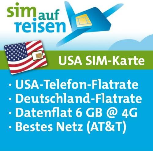 Usa Prepaid Reise Sim Karte Im At T Netz Mit Amazon De Elektronik