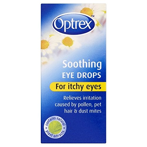 6 x Optrex Soothing Eye Drops for Itchy Eyes 10ml by Optrex