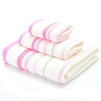 SYXLTSH Toalla Toalla de baño Toalla Cuadrada Tres Piezas algodón Suave Absorbente Hombres y Mujeres Pareja