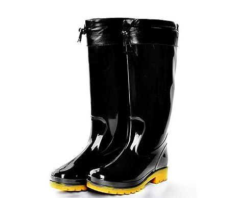 stivali da pioggia in pvc da lavoro a buon mercato nero non