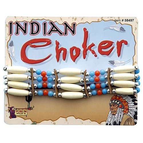 Forum Novelties Beaded Native American Choker - Standard -  Brown