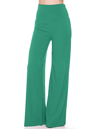 46f7266cfe9f6 Vina Vino Palazzo Pants For Women - Plus Size Yoga Pants - Made In USA at Amazon  Women's Clothing store:
