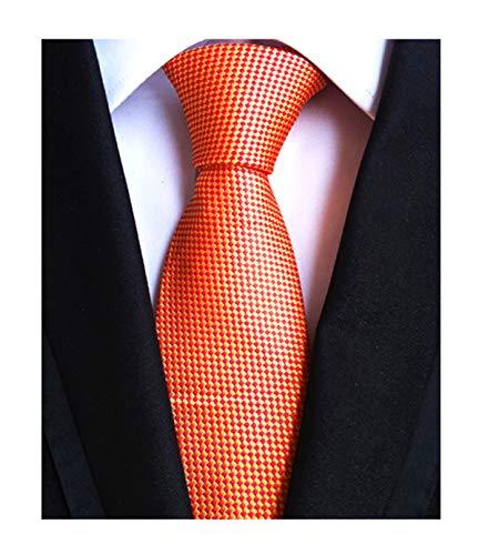 (Yellow Orange Silk Ties Auttmn Formal Dress Necktie Decent Holiday Gifts for Men)