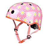 Micro Scooters Kids Cycling Safety Bike Scooter Helmet - Pink Daisy, Small