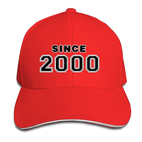 Since 2000 16th Birthday Gift Adjustable Washed Twill Sandwich Caps Hats -