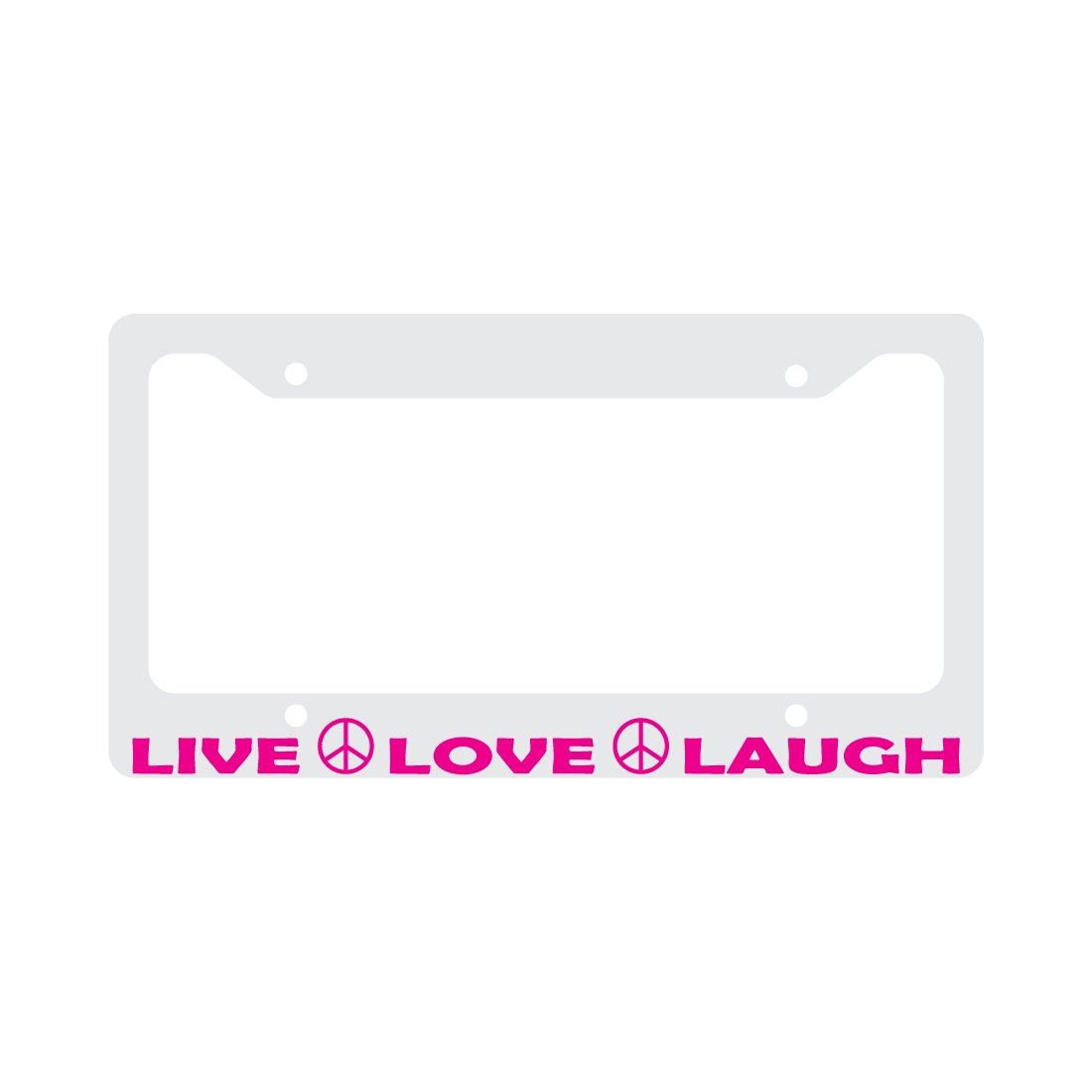 LIVE LOVE LAUGH Peace sign License Plate Frame