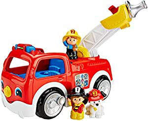 Mattel Fisher-Price DNR42 - Little People coche de bomberos