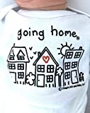 Unisex Newborn Going Home ® Outfit, Neutral Baby Gift, Just Born Baby Announcement Shirt, Coming Home Outfit, Long Sleeve, White, up to 12.5 lbs