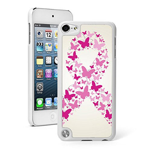 - For Apple iPod Touch 5th / 6th Generation Hard Back Case Cover Pink Butterflies Breast Cancer Awareness Ribbon (White)