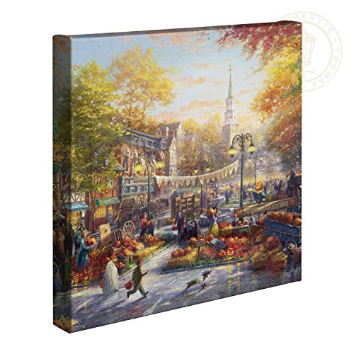 Thomas Kinkade Studios The Pumpkin Festival 14 x 14 Gallery Wrapped Canvas (Autumn Kinkade Thomas)