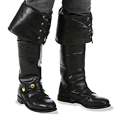 Kangaroo's Deluxe Black Pirate Vinyl Boot Covers / Boot Tops