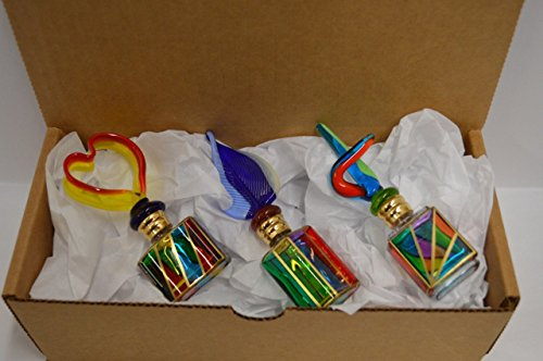 (My Italian Decor Murano Stained Glass Perfume Bottles (Set of)