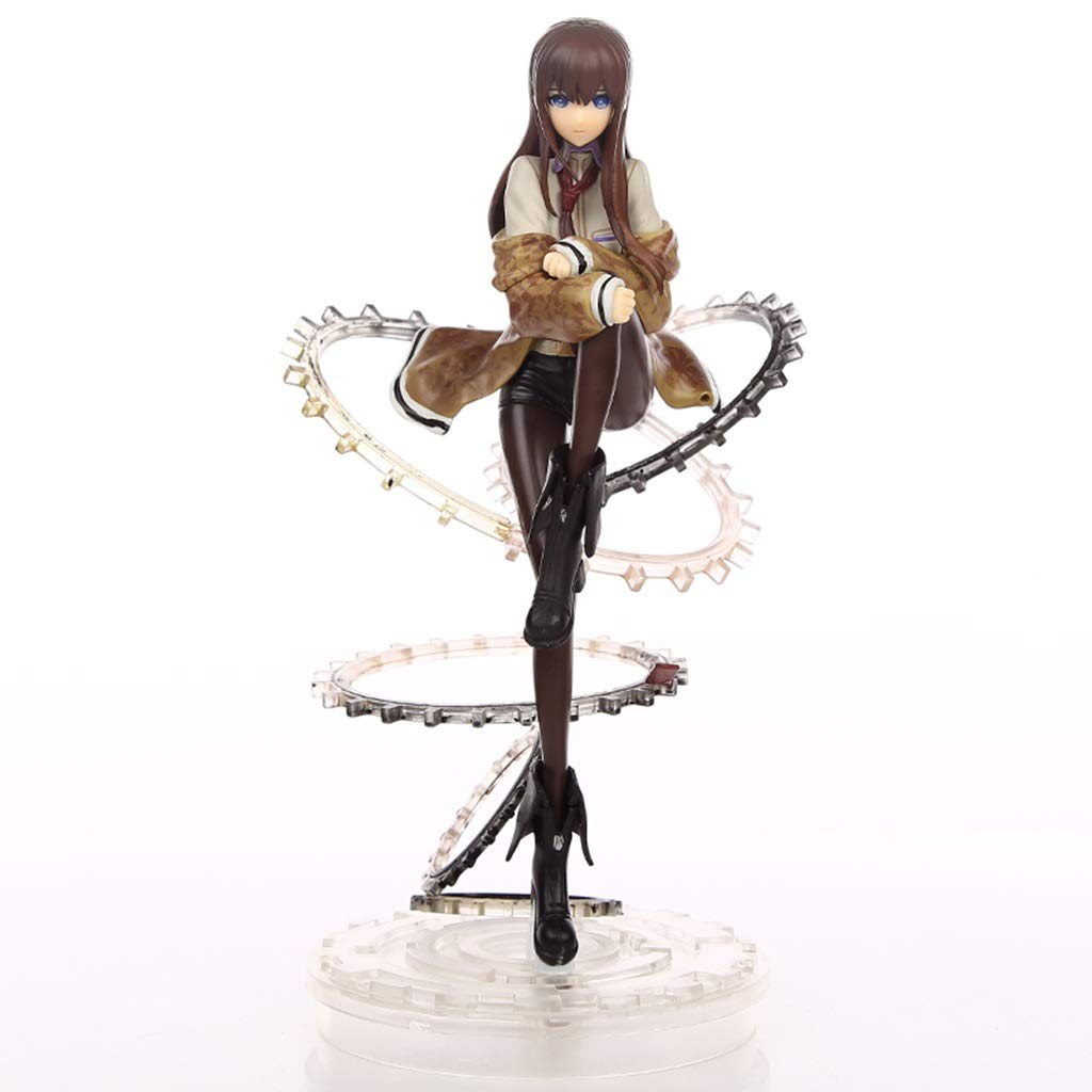 QCRLB Schicksal Stein Tor Anime Statue Makise Kurisu Gear Edition Anime Modell Home Office Dekoration Toy 24 Cm Spielzeugmodell