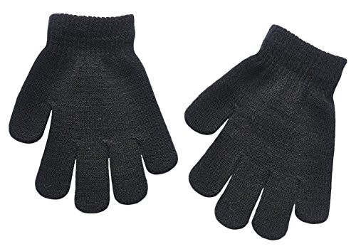 BaiX Boys and Girls Warm Winter Knitted Writing Gloves, 5-12 Years Old, -