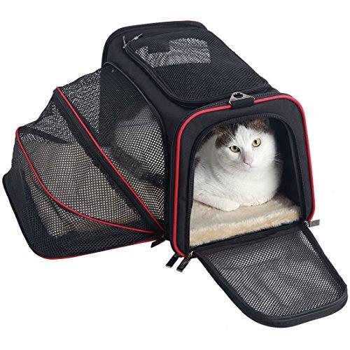 Petsfit Cat Carrier Expandable Dog Car Carrier Medium Dogs,