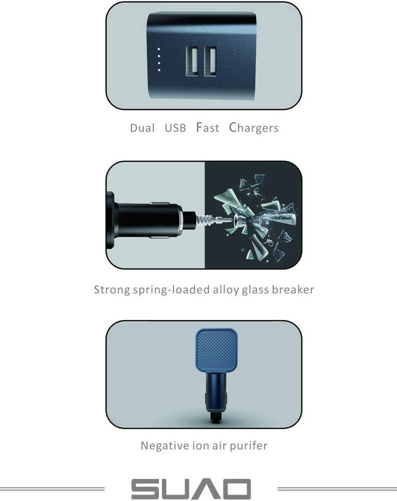 Suvo - Purificador de Aire para Coche, Cargador rápido USB, Romper ...