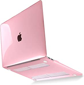 Mektron Case for MacBook Pro 13 inch 2020 A2289 A2251 with Touch Bar & Touch ID, Plastic Crystal Hard Shell Cover & Keyboard Skin & Screen Protector, Pink