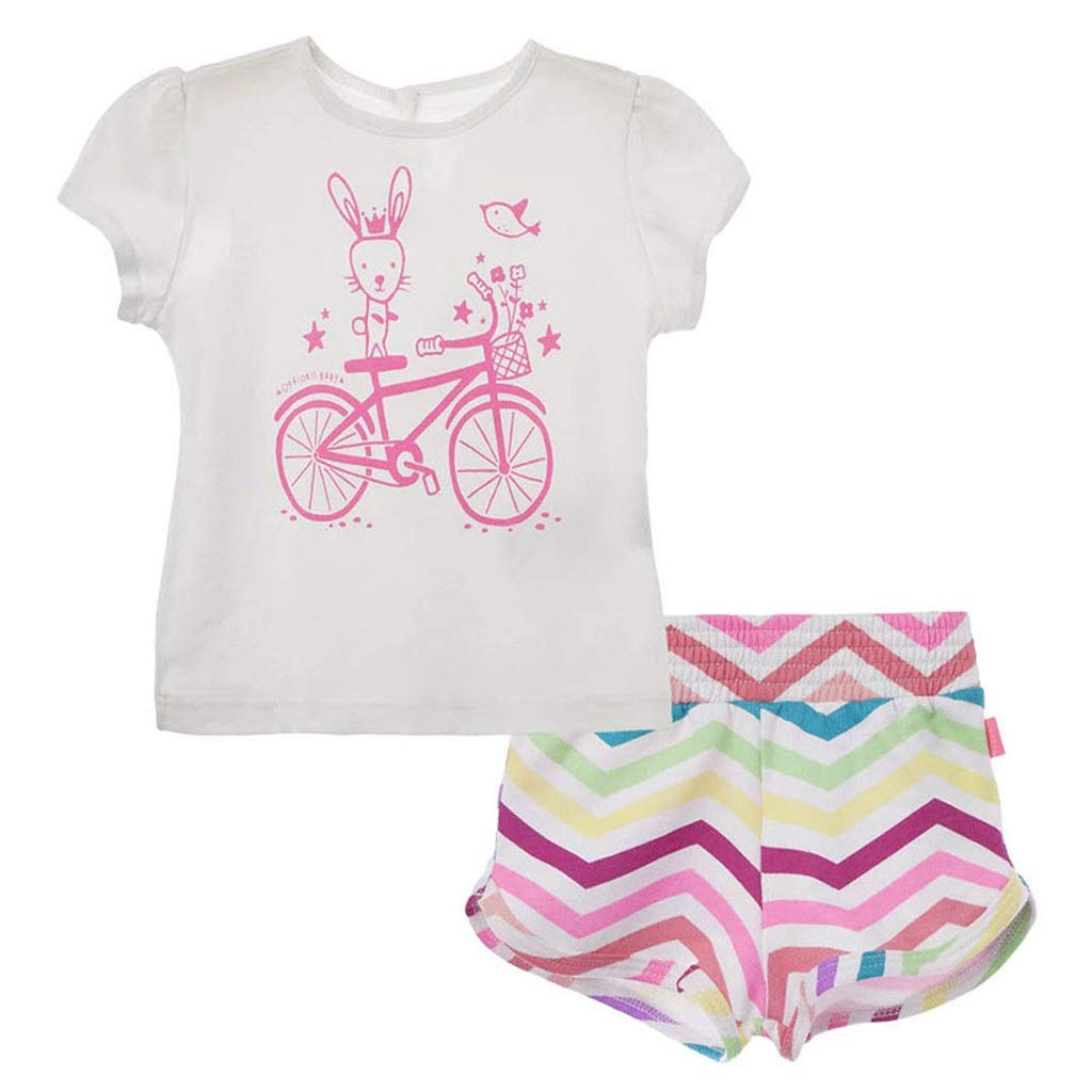 Amazon.com: OFFCORSS Baby Girl Newborn Cotton Shirt + Colored Shorts ...