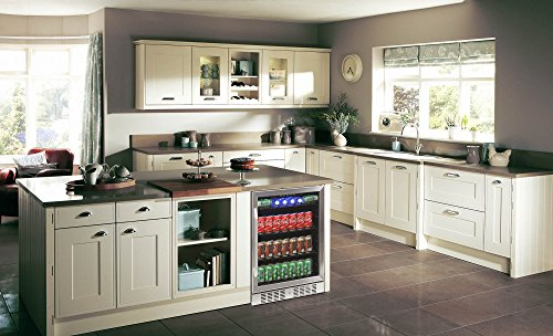 NewAir ABR-1770B 177 Can Built in Beverage Cooler, Black Stainless Steel