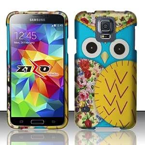 For Samsung Galaxy S5 - Rubbeirzed Design Cover - Owl 2 Design