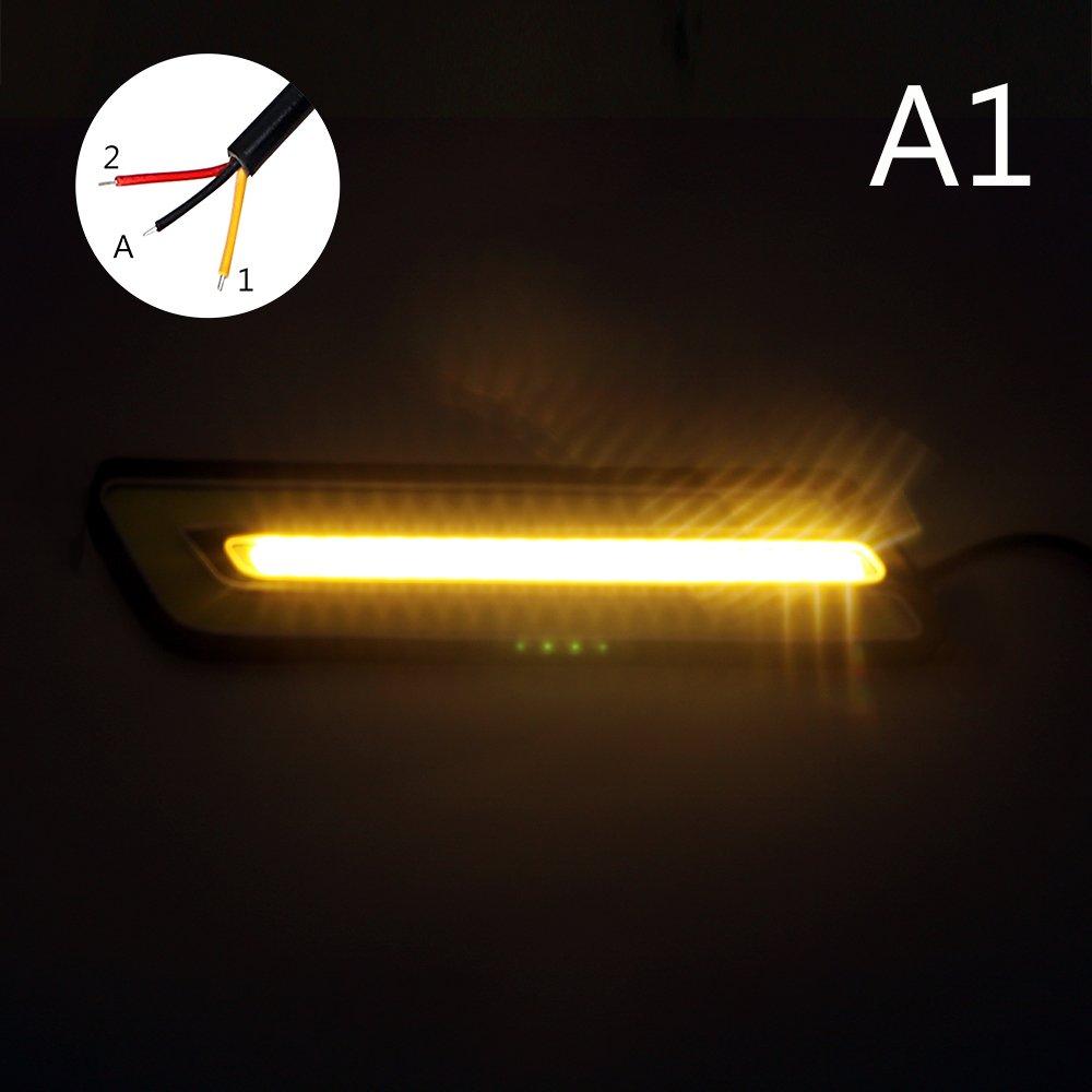 Itimo 1/paire /étanche de voiture /à LED COB DRL Flexible Car-styling Turn Signal lamps lumi/ère de recul circulation diurnes