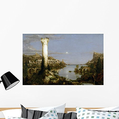Wallmonkeys Desolation Thomas Cole Wall Decal Peel and Stick Graphic WM79575 (36 in W x 23 in H) (Thomas Cole Oil)