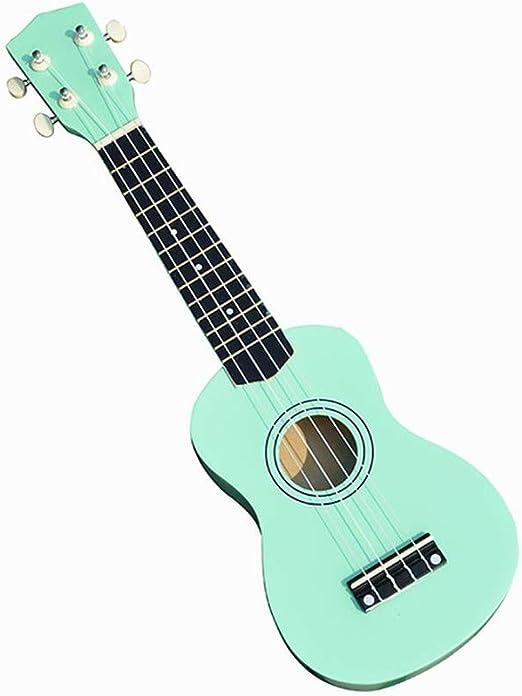 WZGGZ Color de 21 Pulgadas, pequeña Guitarra Negra, Principiantes ...